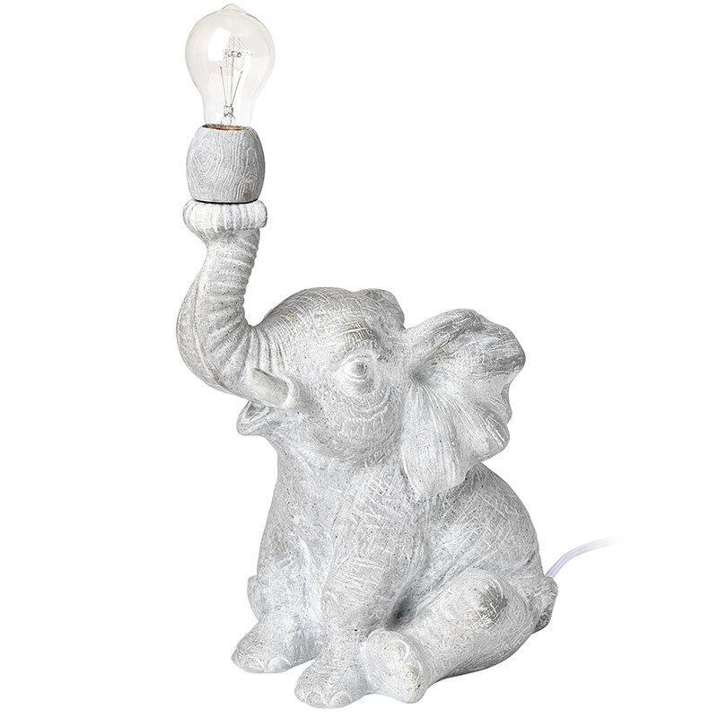 HARRY ELEPHANTE TABLE LAMP LIGHT GREY