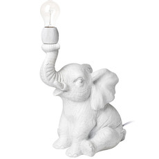 HARRY ELEPHANTE TABLE LAMP WHITE