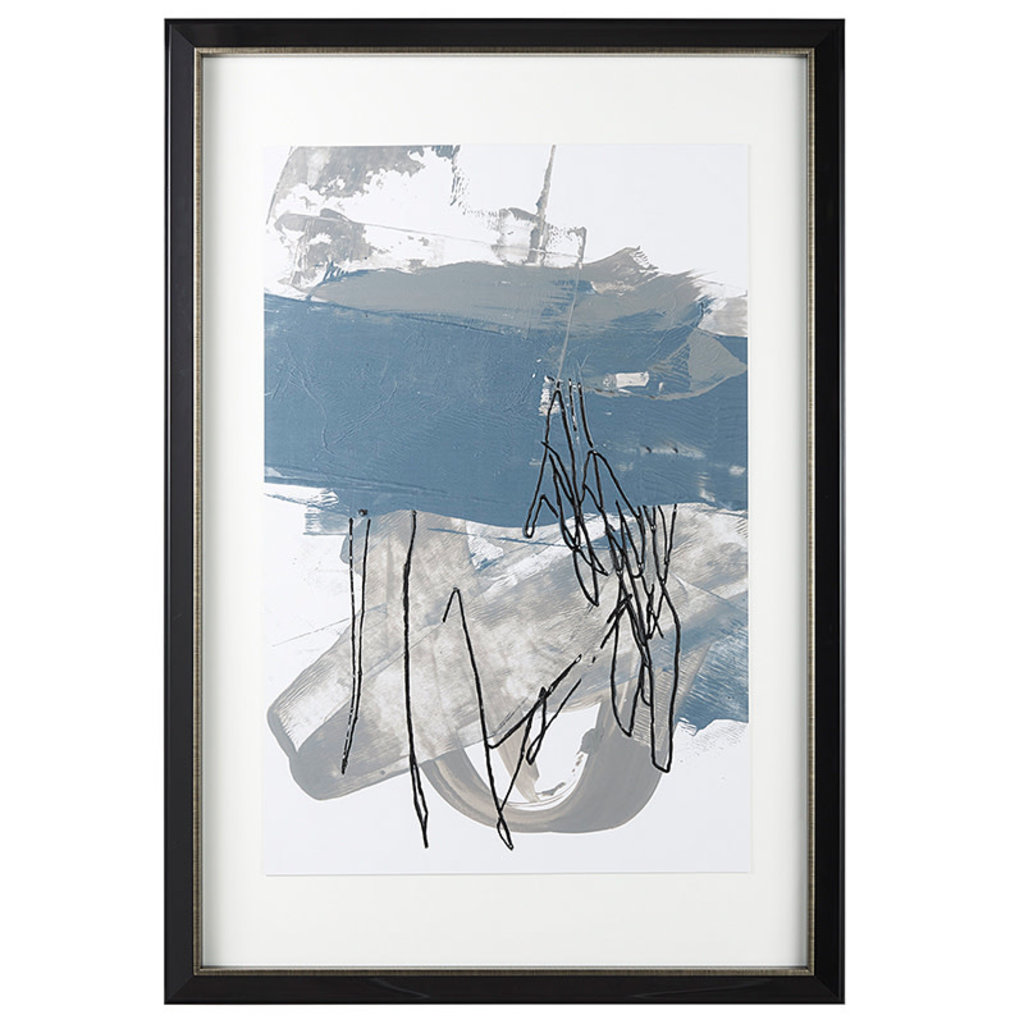 BLUE & GREY SWIPE I