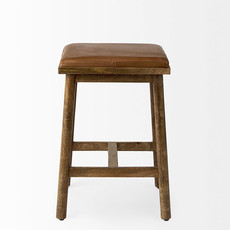 BRITTON COUNTERSTOOL CARAMEL AND WOOD