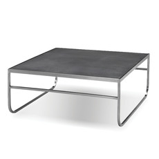 VIKANDER COFFEE TABLE BLACK AND STAINLESS BRUSHED