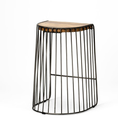 TRAP COUNTERSTOOL WOOD AND METAL NATURAL