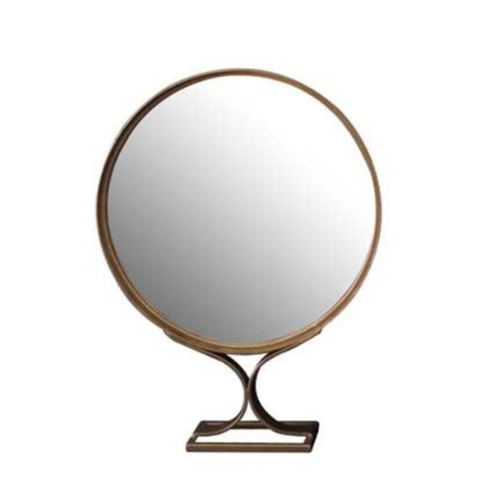 UMA TABLE TOP MIRROR BURNISHED GOLD