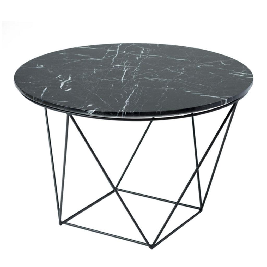 AMADA SIDE TABLE ROUND MARBLE BLACK
