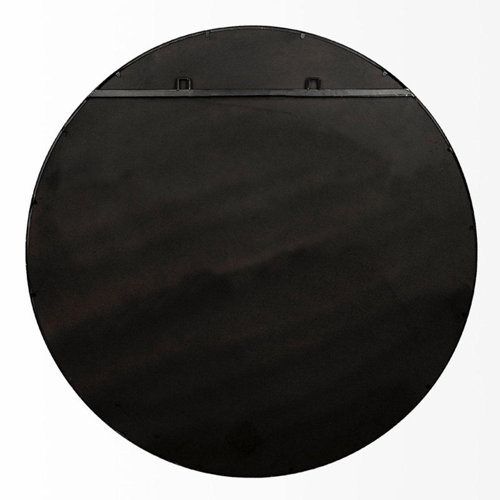 ATHENA MIRROR ROUND METAL BLACK LARGE
