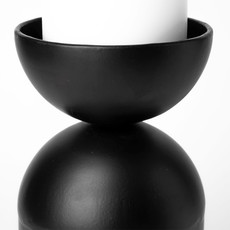PILL CANDLE STICK BLACK LARGE