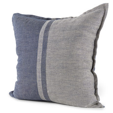 """MARITIME FEATHER FILLED PILLOW BLUE AND GREY 20""""X20"""""""