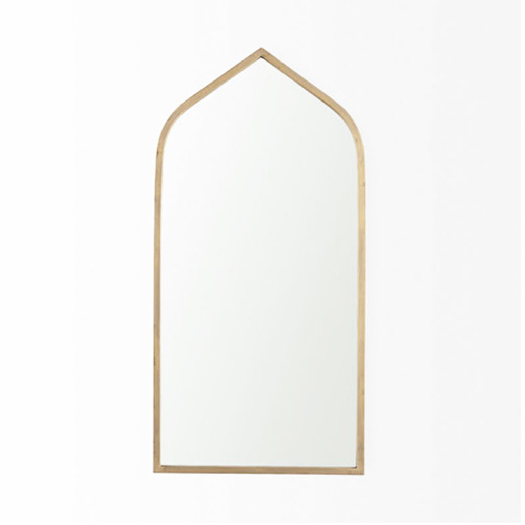 CONSTANTINOPLE ARCHED MIRROR METAL GOLD