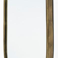 SYLVIA OVAL MIRROR METAL GOLD