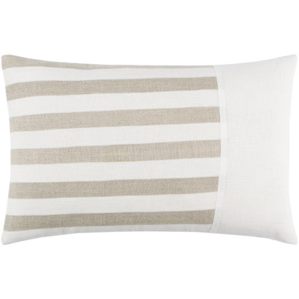"""ROX STRIPED DOWN FILLED PILLOW 20""""X13"""" SAND"""
