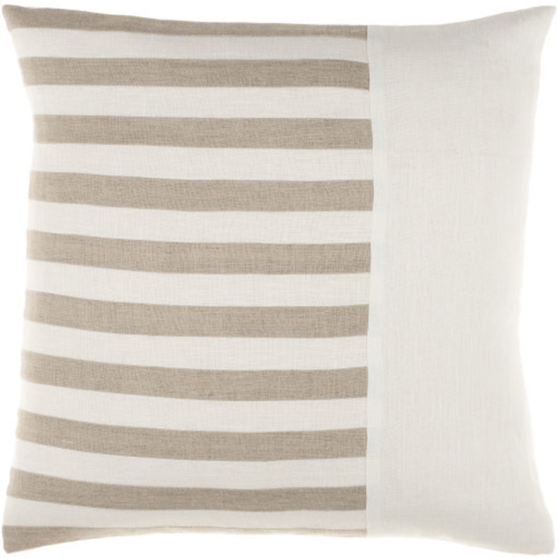 """ROX STRIPED DOWN FILLED PILLOW 18"""" SAND"""