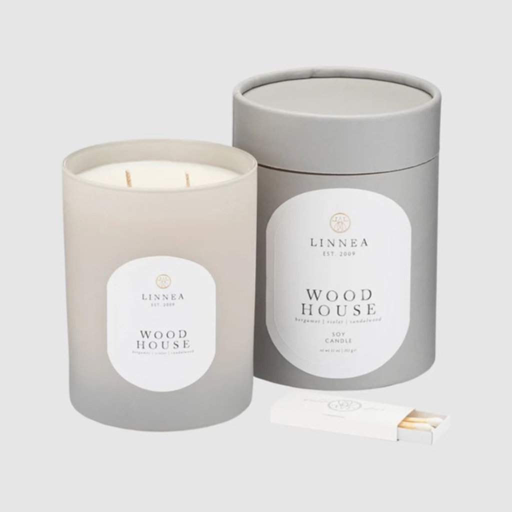 WOOD HOUSE - LINNEA Two Wick Candle