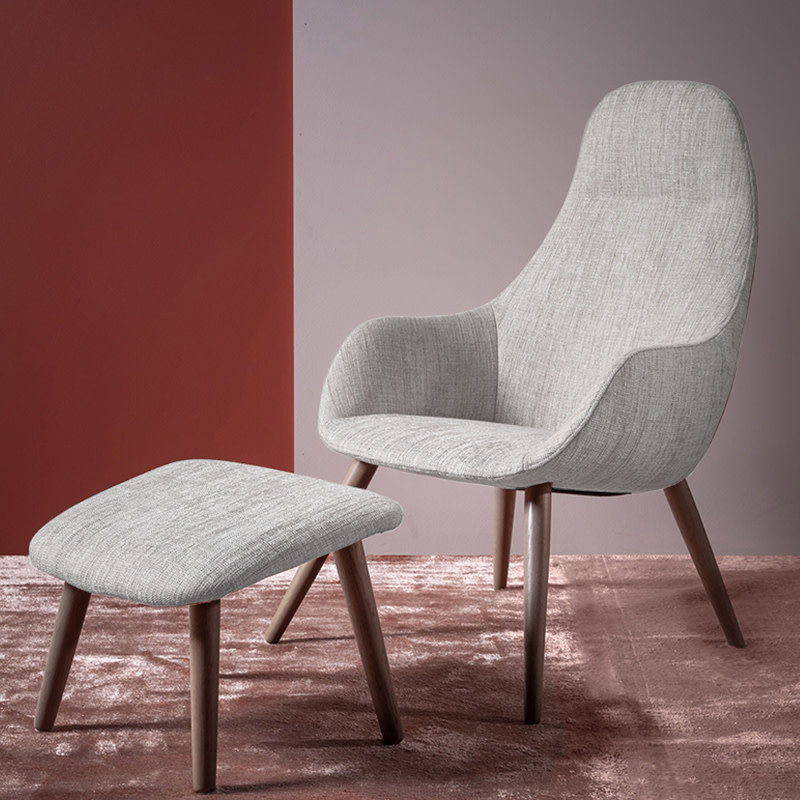 OLINE CHAIR AND FOOTSTOOL By Furninova Sweden