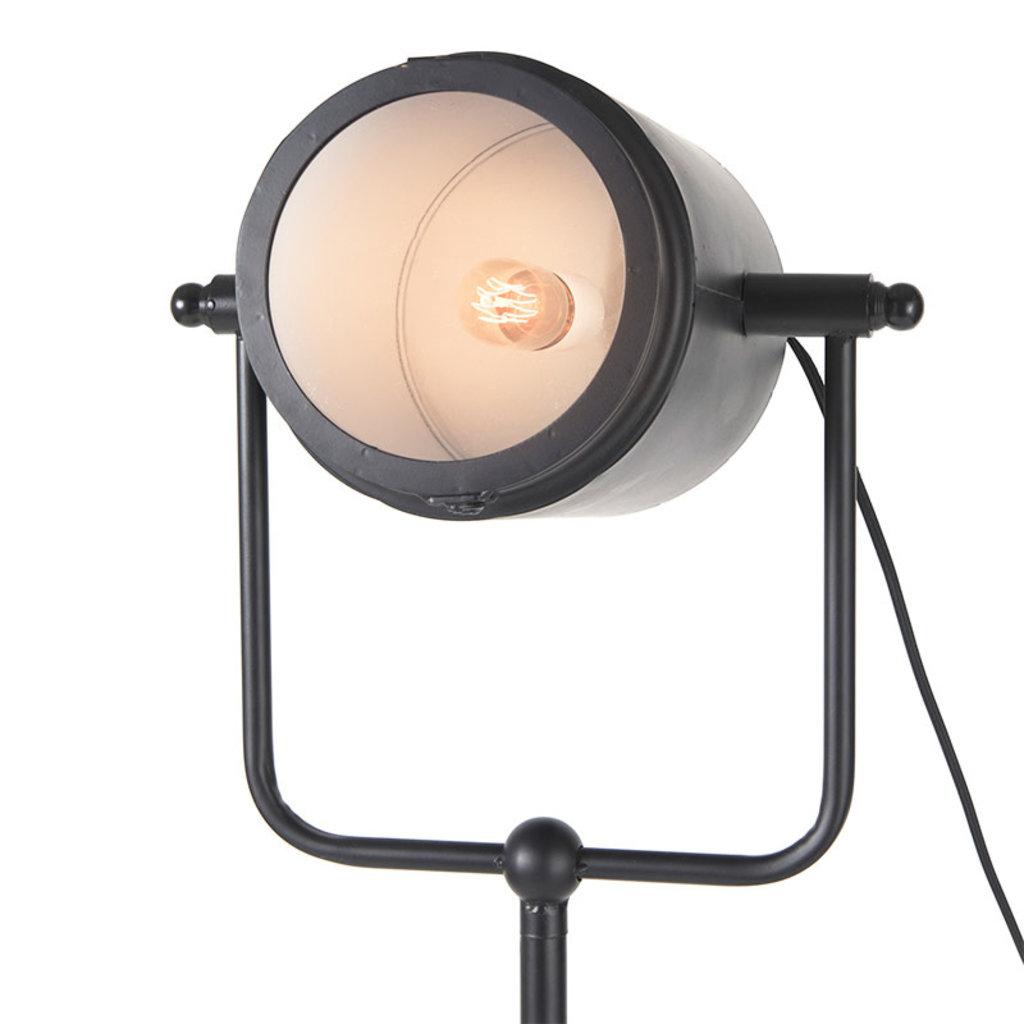 HOLLYWOOD FLOOR LAMP METAL BLACK