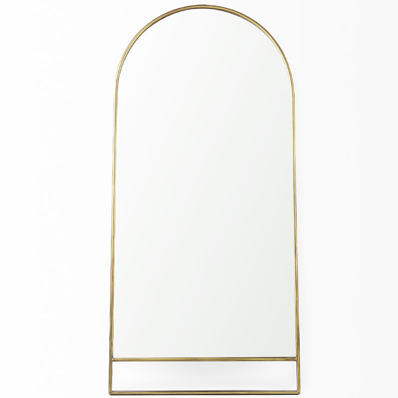 HERA ARCHED MIRROR METAL GOLD