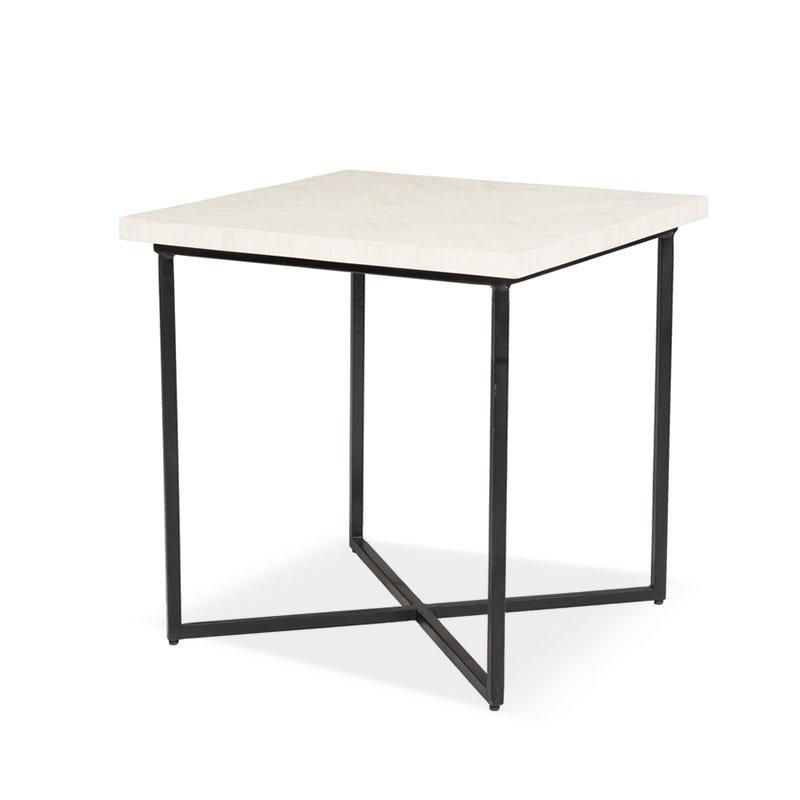 CHARLESTON SIDE TABLE BONE WHITE