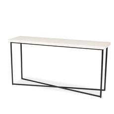 CHARLESTON CONSOLE TABLE BONE WHITE
