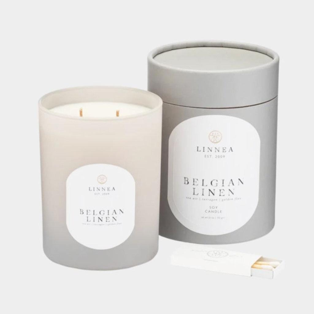 BELGIAN LINEN - LINNEA Two Wick Candle