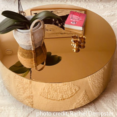 BO COFFEE TABLE  ROUND GOLD