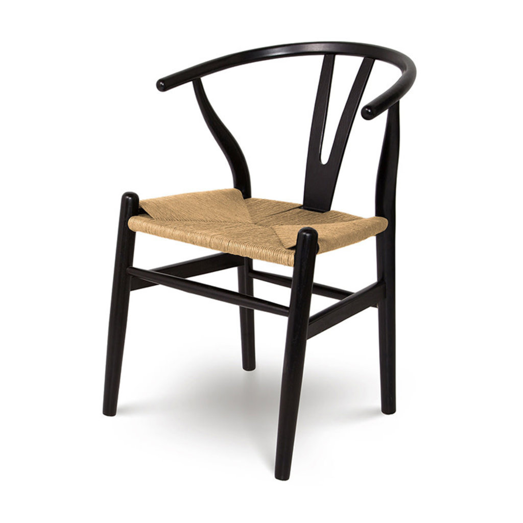 WILLOW DINING CHAIR BLACK AND NATURAL