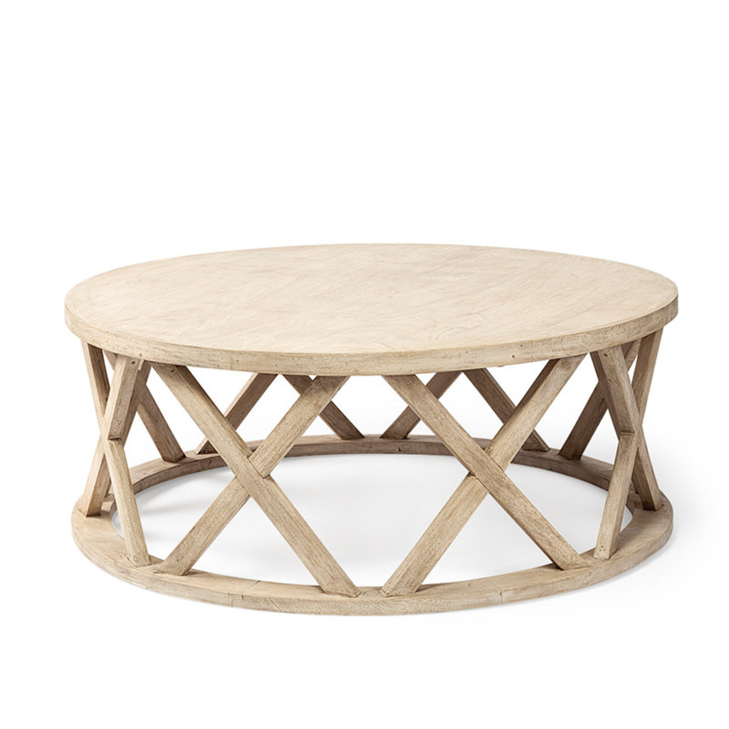 MERIDIAN COFFEE TABLE ROUND WOOD NATURAL