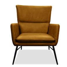 JARED CHAIR LEATHER CARAMEL