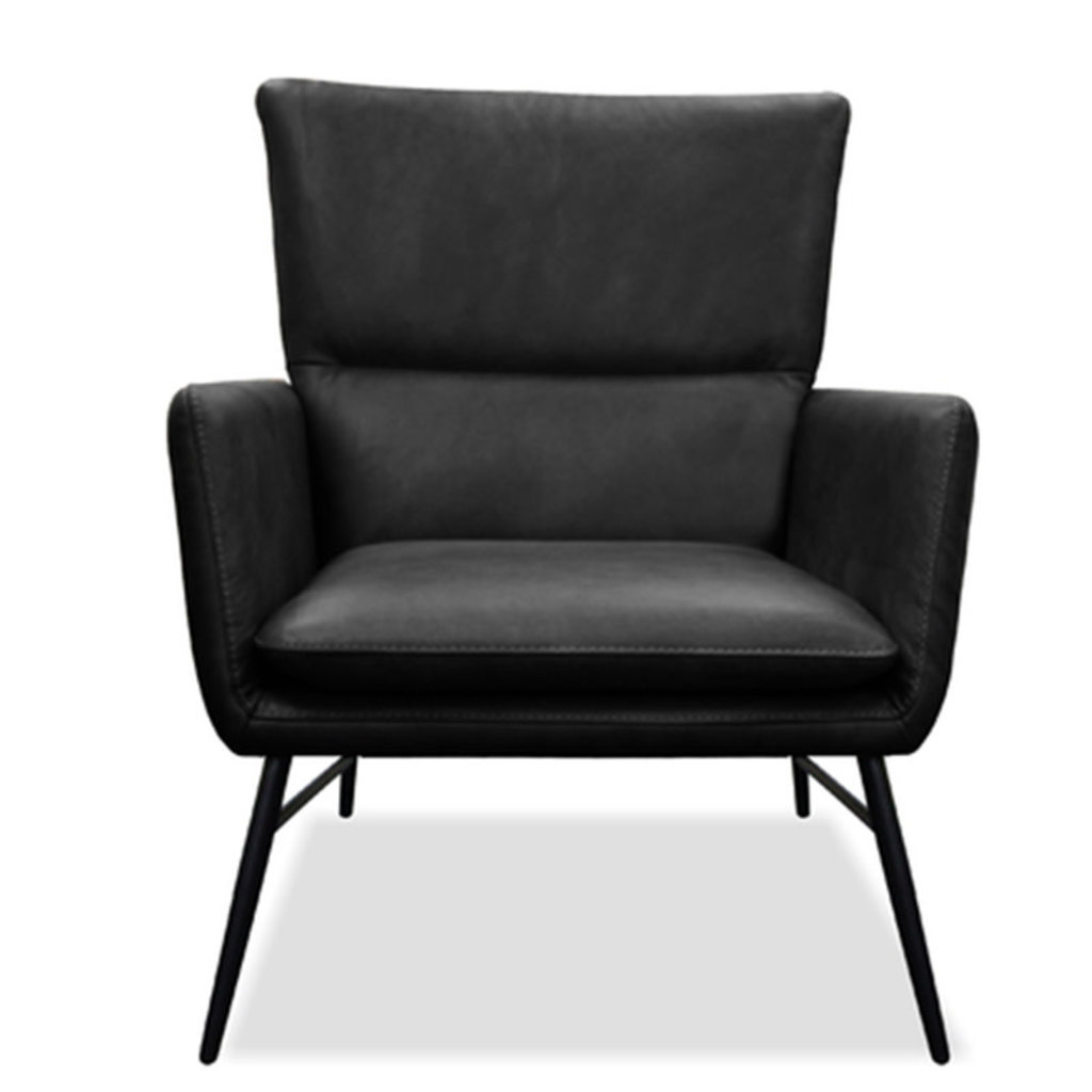 JARED CHAIR LEATHER BLACK