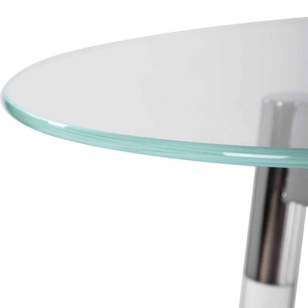 JONET ACCENT TABLE GLASS AND NICKEL