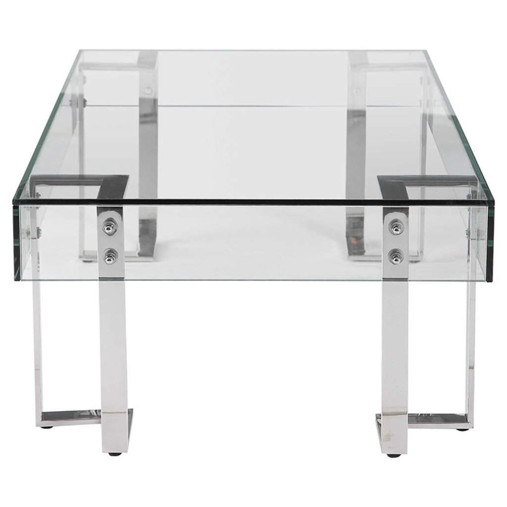 SPECTRA COFFEE TABLE GLASS SMOKED LIGHT