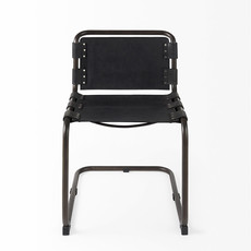CHANCE CHAIR LEATHER STRAP BLACK