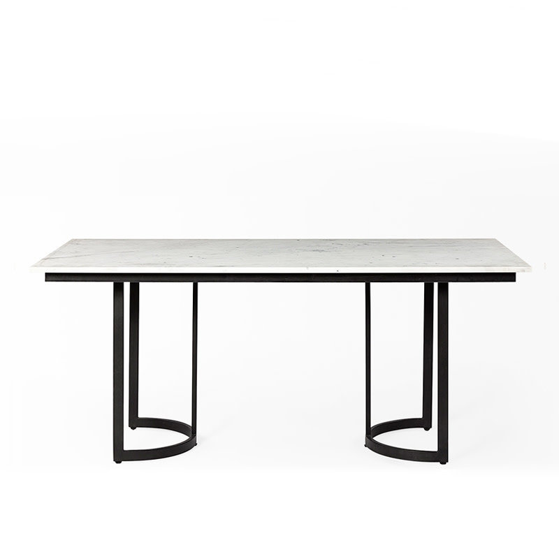 ELIXIR DINING TABLE RECTANGLE MARBLE WHITE