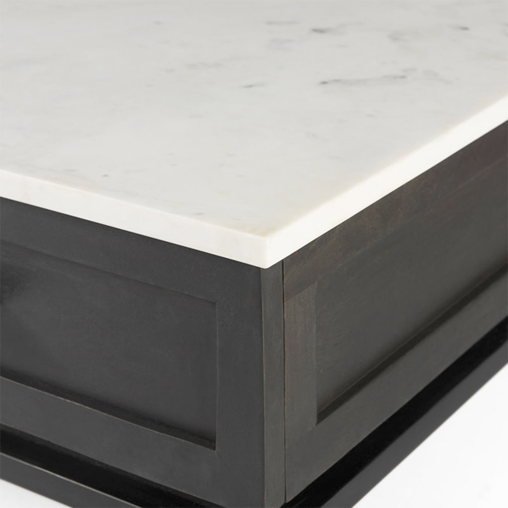 ROGERS NIGHSTAND MARBLE TOP WHITE