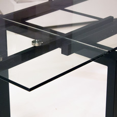 """KARLSTAD EXTENSION TABLE BLACK 63"""" TO 93"""""""
