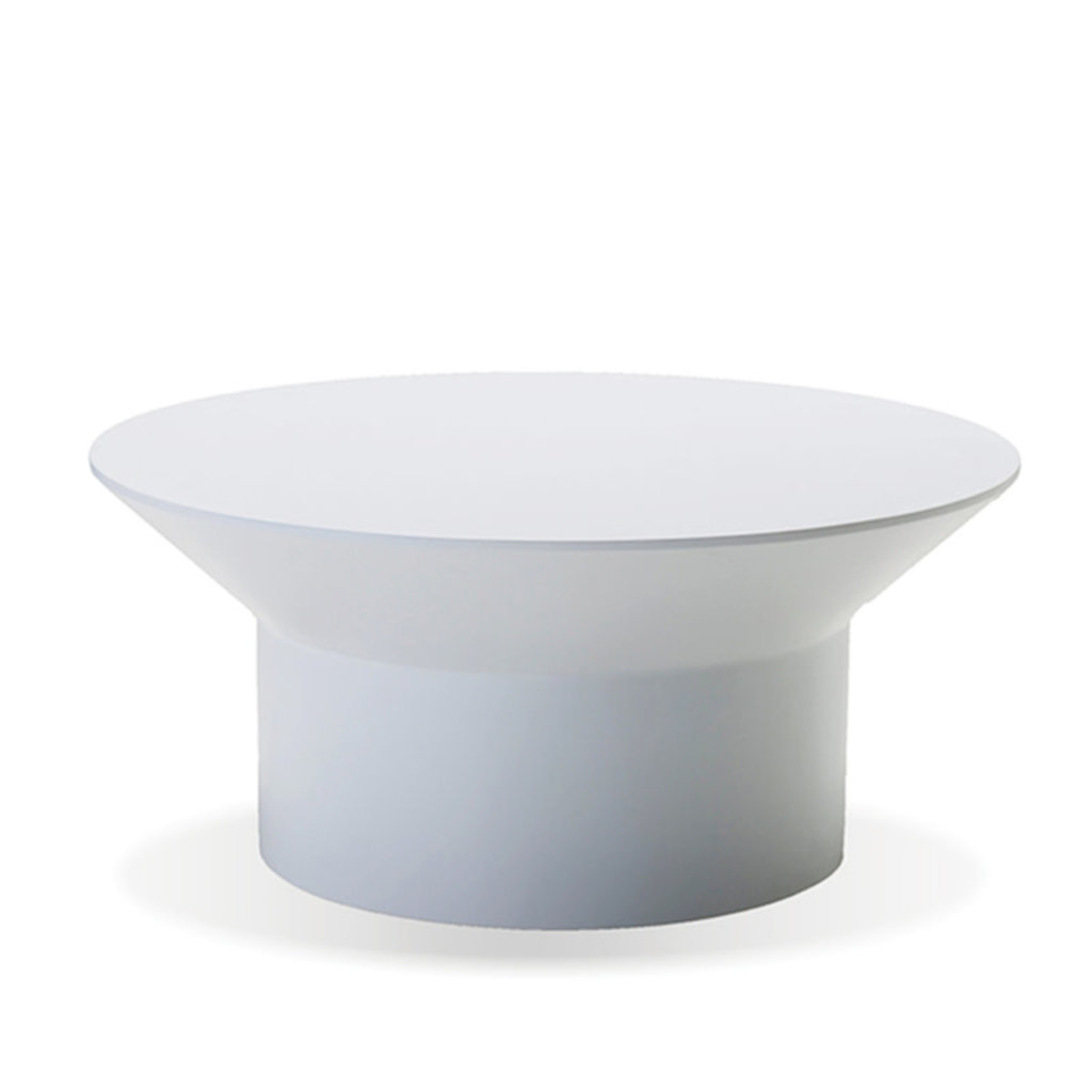 LUNAR COFFEE TABLE SOLID SURFACE WHITE [OUTDOOR SAFE]