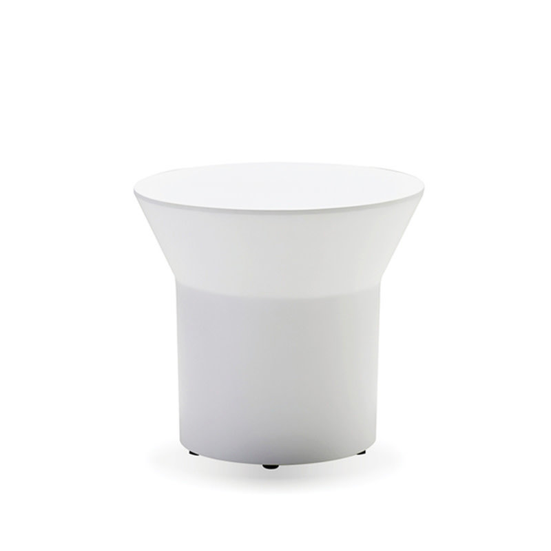 LUNAR SIDE TABLE SOLID SURFACE WHITE [OUTDOOR]