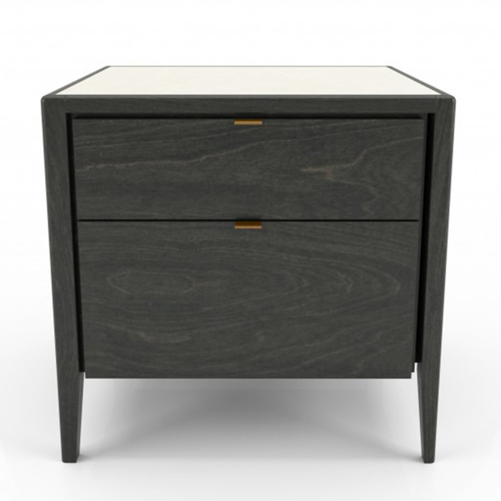 WINSTON 2 DRAWER NIGHSTAND by HUPPE