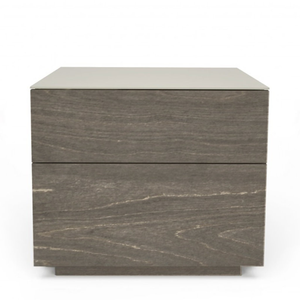 ALMA 2 DRAWER NIGHSTAND by HUPPE