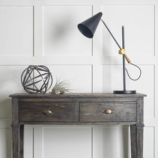 GENTRY TABLE LAMP BLACK AND BURNISHED GOLD