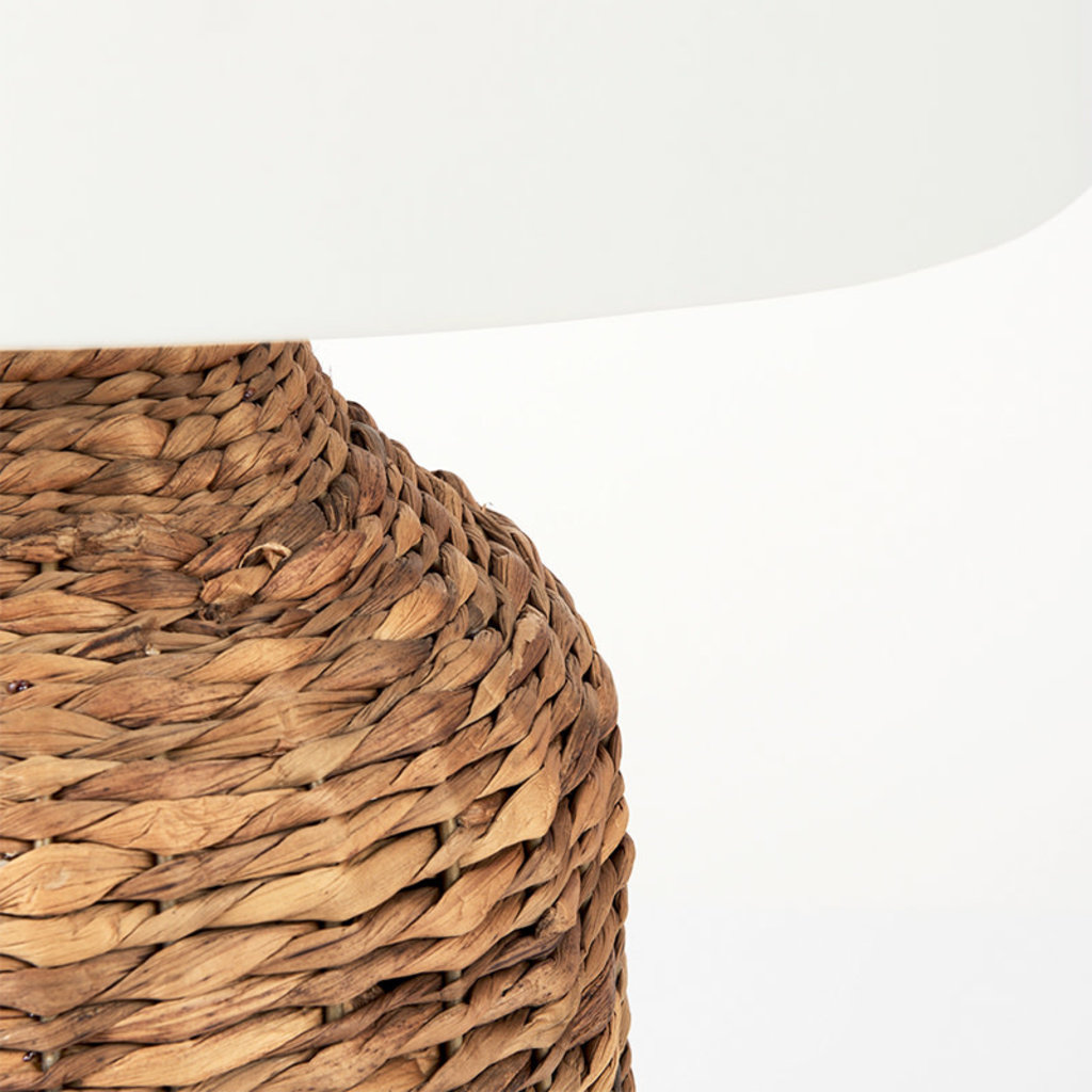 CASTAWAY TABLE LAMP NATURAL AND WHITE SHADE