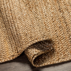 BRAIDED JUTE NATURAL 6X9 OVAL