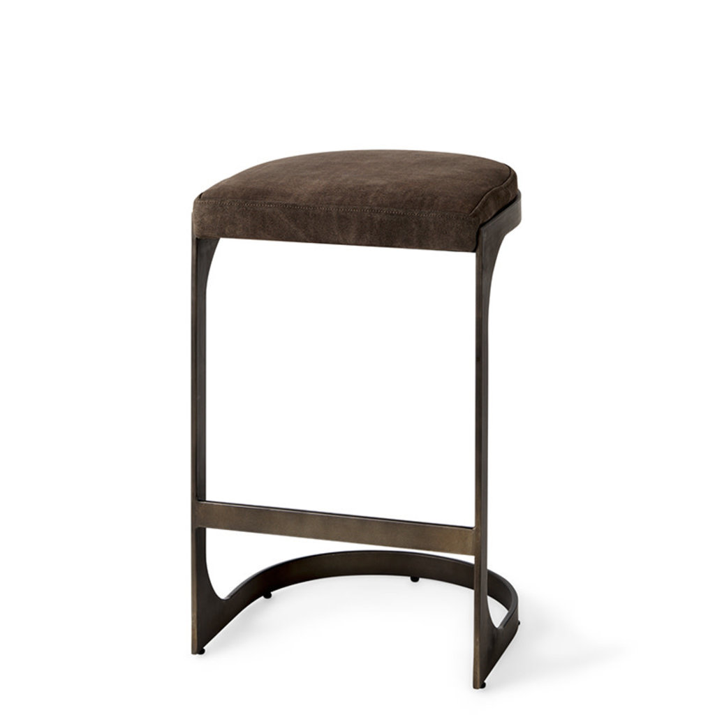 COLA COUNTERSTOOL SUEDE AND METAL