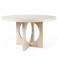 """BOSTON DINING TABLE ROUND 54"""" NATURAL"""