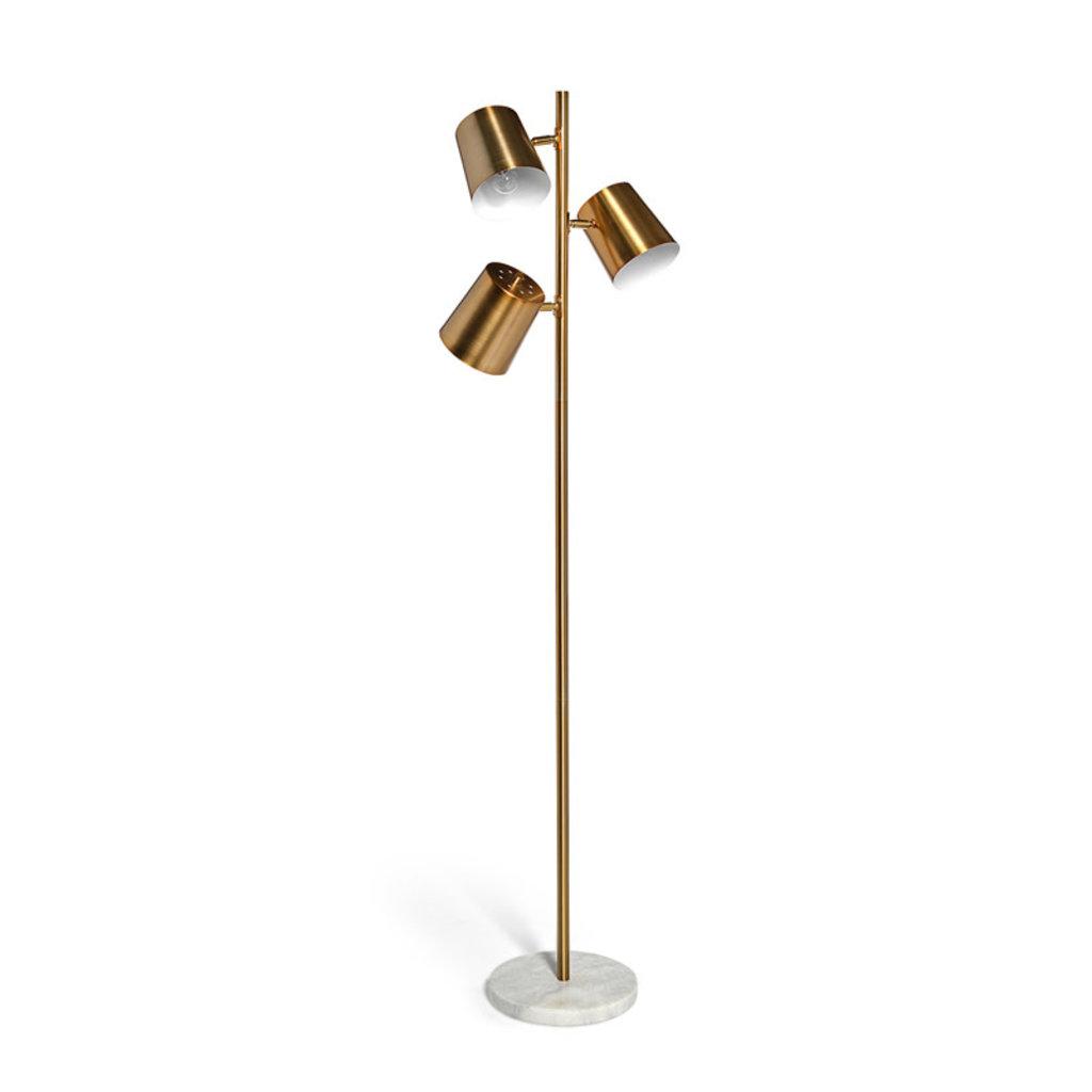 TRIPLET FLOOR LAMP GOLD