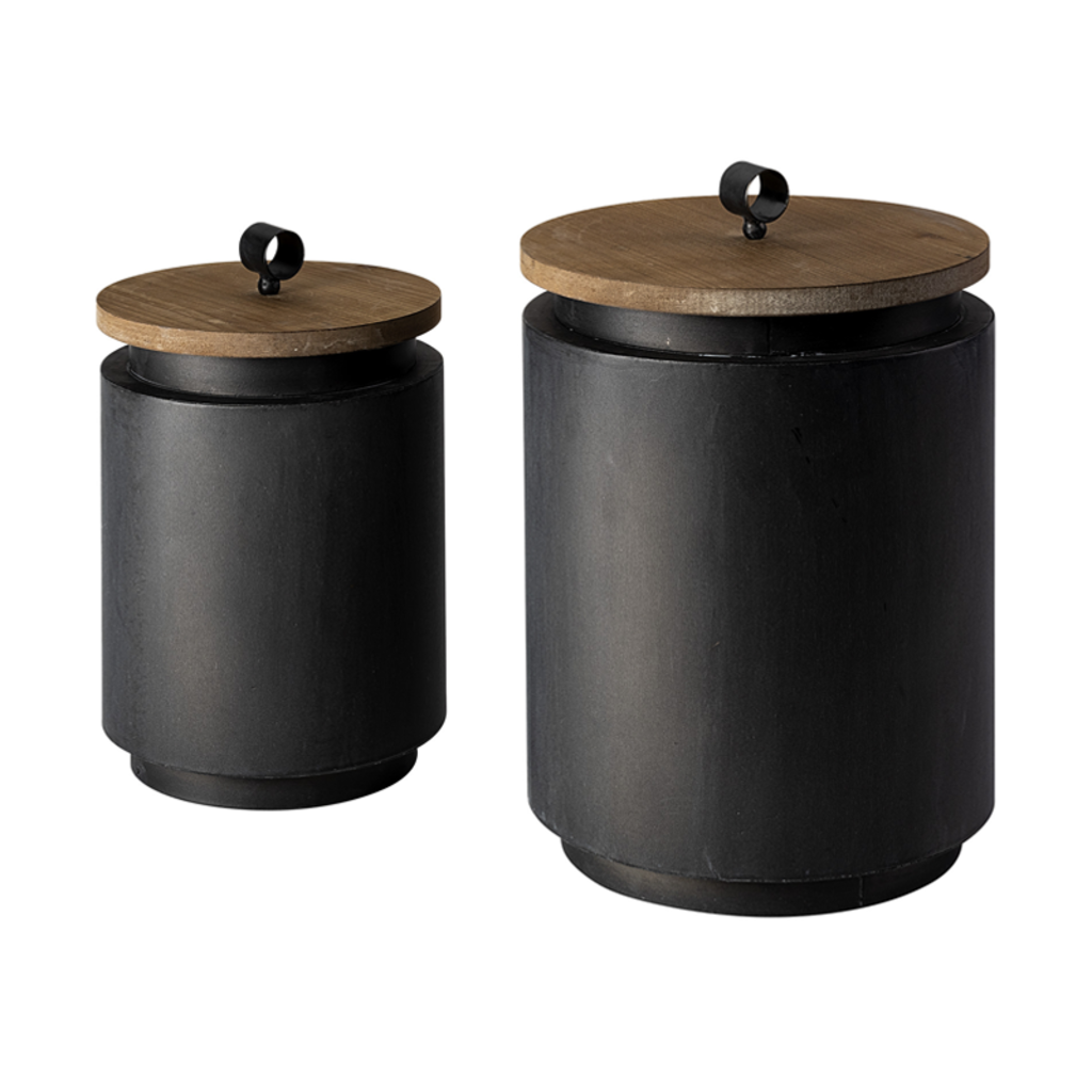 THE CANISTERS BLACK SET-2