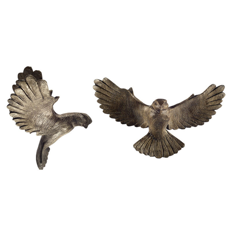 CATHEDRAL PIGEONS WOOD WALL MOUNTED -SET 2
