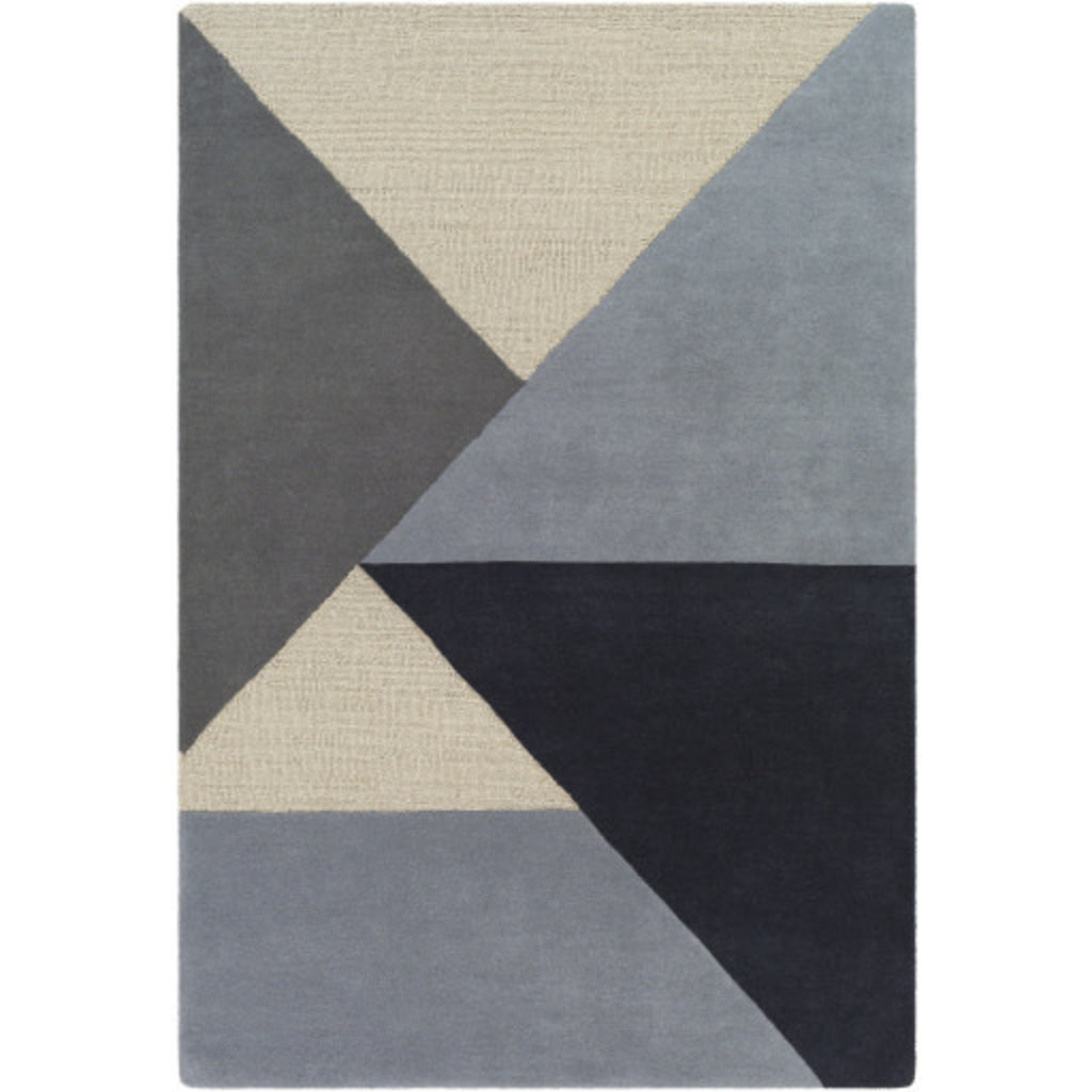 KENNEDY ANGLES 8' X10' BLUE GREY TAUPE