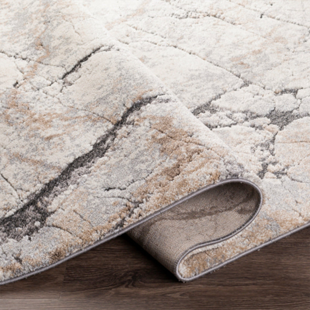 """Copy of TUSK MARBLED 6'7""""X9'6"""" GREY RUST TAUPE"""