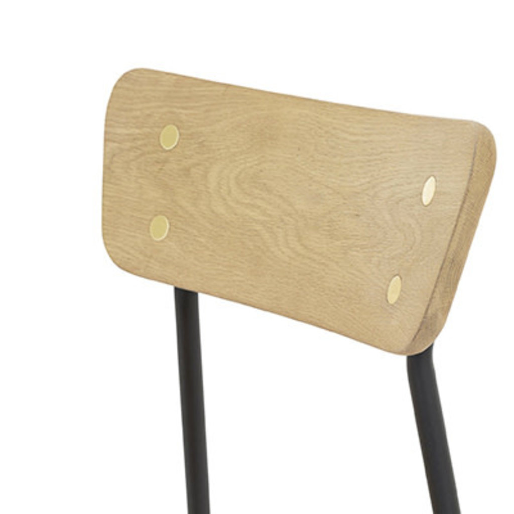 STORM CHAIR OAK AND METAL