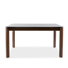 HURON DINING TABLE GLASS TOP BLACK