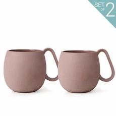 NINA: Tea Mug - Set Of 2: Powder Brown